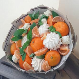 Букет из зефира и апельсинов