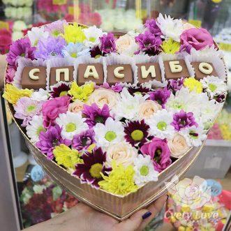 Композиция из цветов и шоколада «Спасибо»