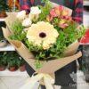 Букет из гербера, роз и альстромерий