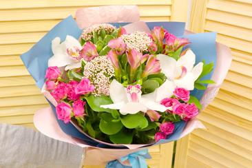Баннер букет цветов