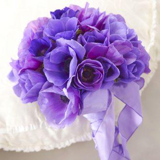 Букет невесты из анемоны